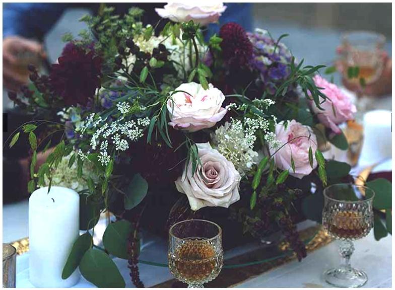 Black Floral Foam Table Centerpiece