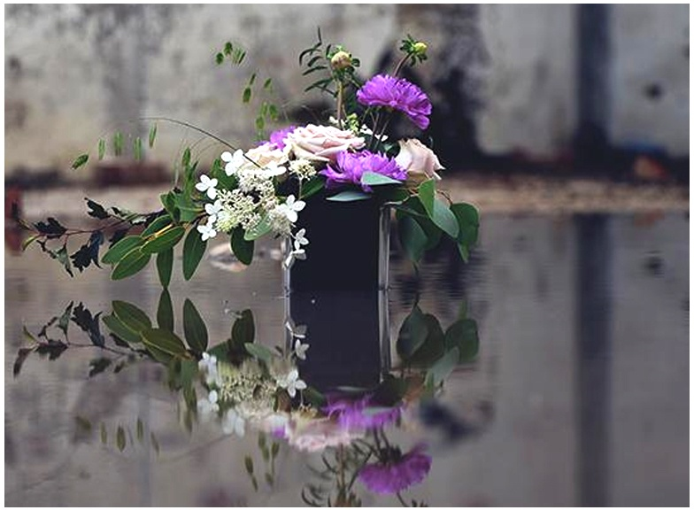 Midnight Floral Foam Design